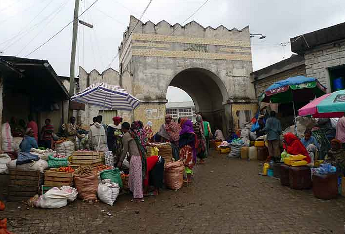 Market at One of the old Gates of Harar
